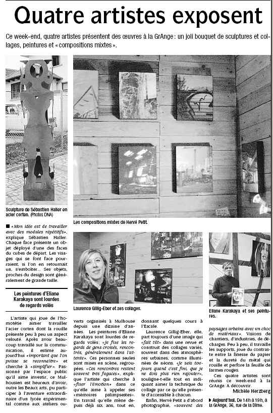 Quatre artistes exposent