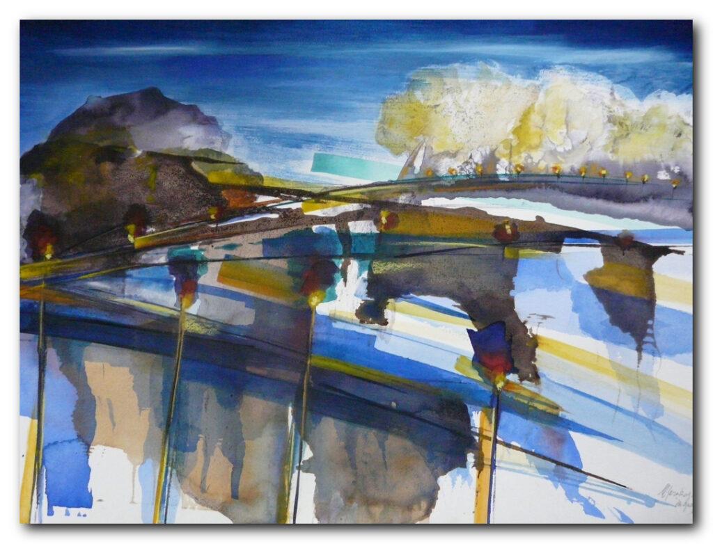 art abstrait abstract painting eliane karakaya artiste peintre strasbourg