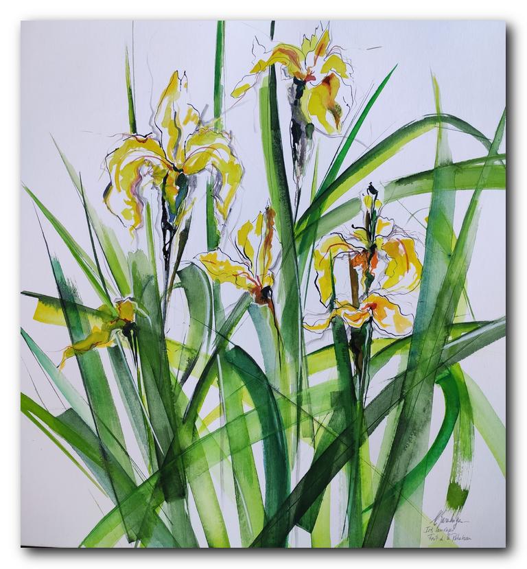 fleur art painting eliane karakaya artiste peintre