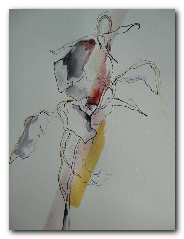 fleur art abstrait abstract painting eliane karakaya artiste peintre
